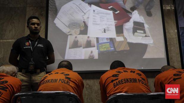 Salah satu sindikat perdagangan orang yang dibekuk oleh polisi, 2017.
