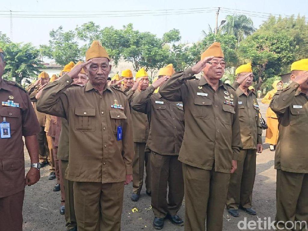 Veteran Banten Gelar Upacara di Taman Makam Pahlawan