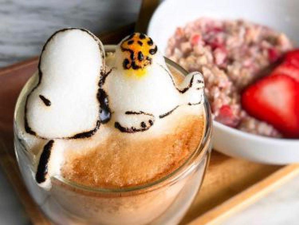 Lucu Banget! Latte Art 3D Minion, Landak dan Beruang Ini Bikin Ngopi Makin Asyik