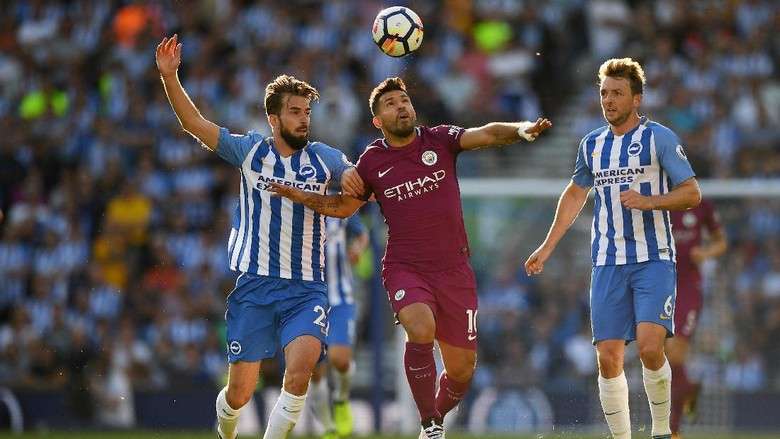 City Awali Musim dengan Kalahkan Brighton 2-0