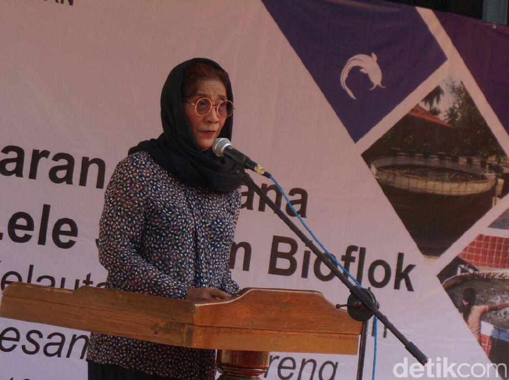 Susi Gelontorkan 109 Ribu Benih Lele untuk Santri di Jombang
