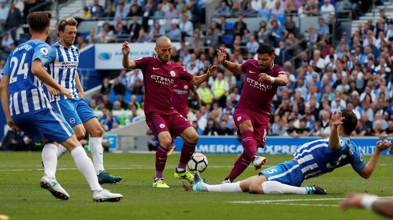 Dominan, City Belum Bisa Bikin Gol ke Gawang Brighton