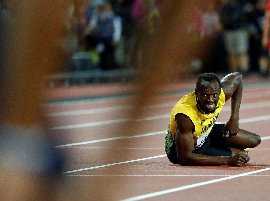 Tangisan Nestapa Usain Bolt di Akhir Karirnya