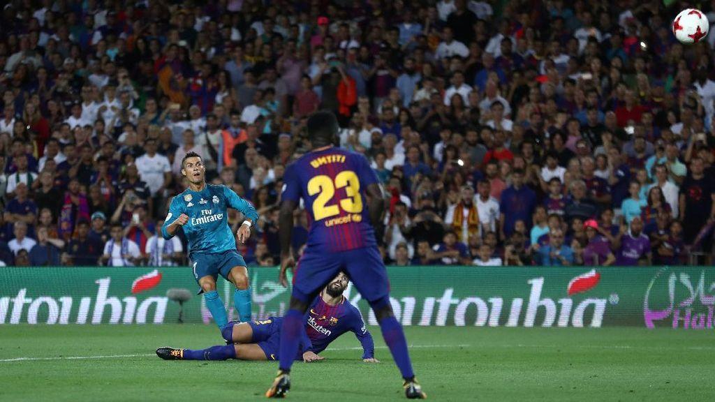 Ronaldo Dikartu Merah, tapi Madrid Menang 3-1 atas Barcelona