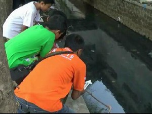 Sesosok Janin Ditemukan Mengapung di Sungai