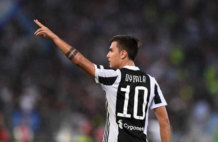 Soccer Football - Juventus vs Lazio Italian Super Cup Final - Rome, Italy - August 13, 2017   Juventus' Paulo Dybala celebrates scoring a goal    REUTERS/Alberto Lingria