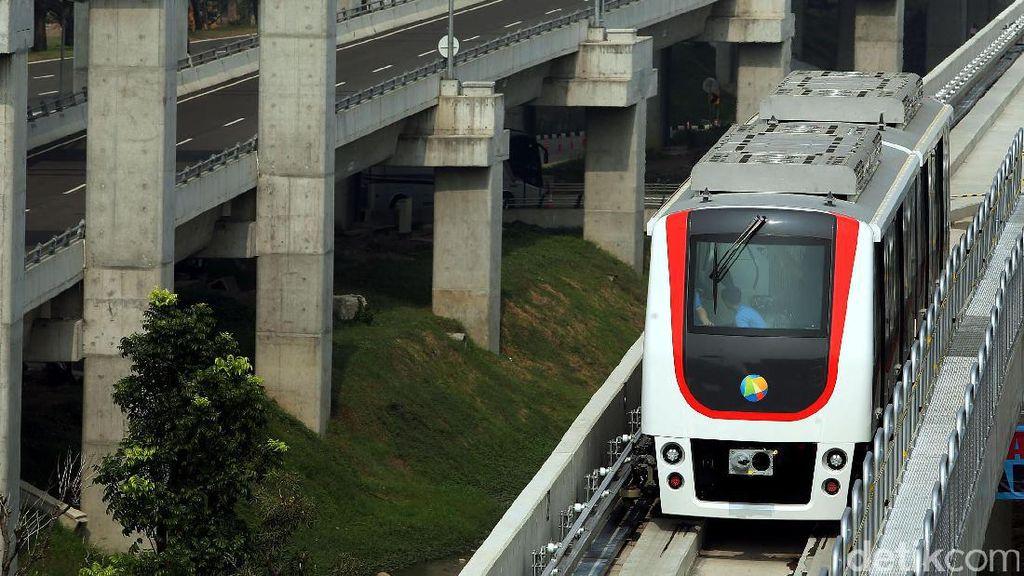 Foto : Begini Penampakan Skytrain Bandara Soekarno-Hatta