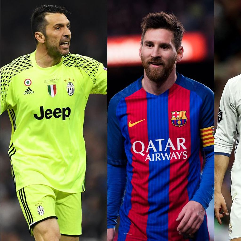 Kandidat Pemain Terbaik UEFA 2016/2017: Buffon, Messi, dan Ronaldo