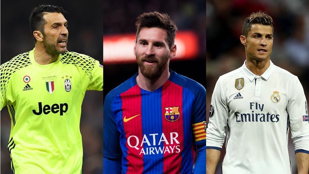 Pemain Terbaik UEFA 2016/2017: Buffon, Messi, atau Ronaldo?