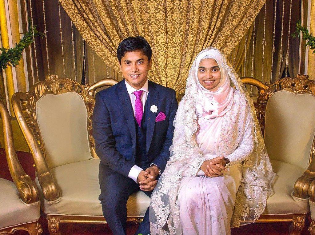 Viral, Kisah Inspiratif Hijabers Tampil Polos Tanpa Makeup Saat Menikah