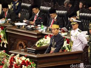 Di Sidang DPR-DPD, Jokowi Puji Pengungkapan 1 Ton Sabu