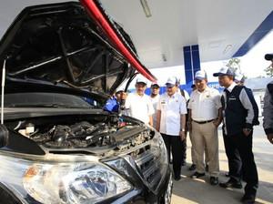 Ratusan Konverter Kit Gratis Dipasang di Mobil Dinas dan Angkot