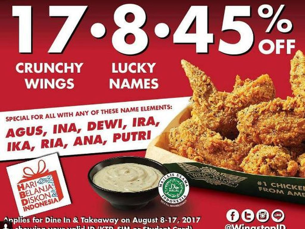 Rayakan HUT RI di 10 Resto Fast Food yang Punya Promo 17 Agustus Ini (2)