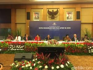 10 Menteri Jokowi Beri Penjelasan RAPBN 2018 Usai Dibacakan di DPR