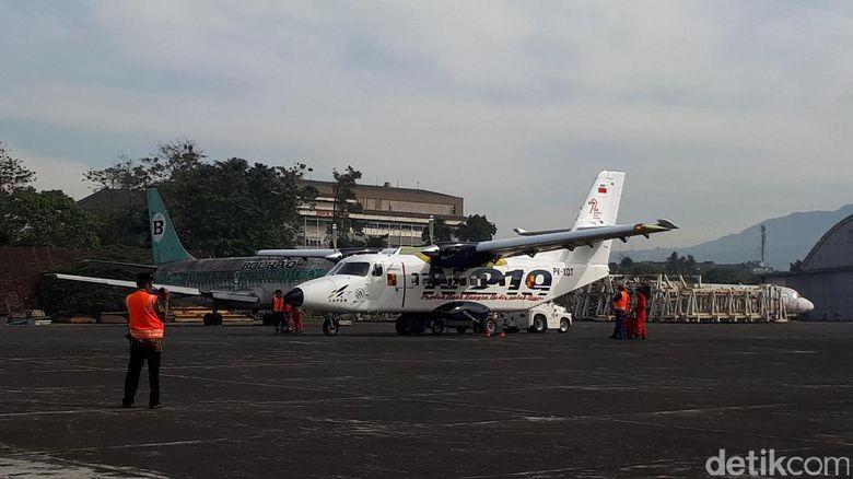 Uji Terbang Perdana, N219 Terbangi Langit Bandung 40 Menit