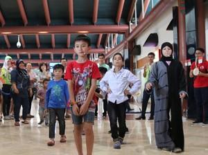 Saat Anak-anak WNA Ikut Lomba HUT ke-72 RI di Bandara Soekarno-Hatta