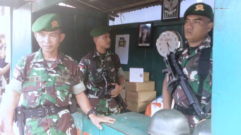 Melihat Para Penjaga Perbatasan yang Bangga Jaga Keutuhan NKRI