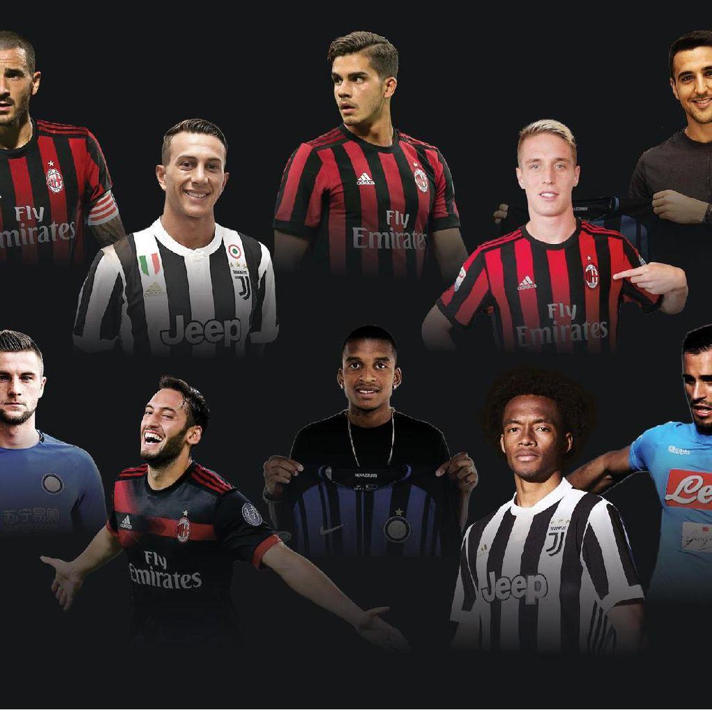 Bursa Transfer Serie A 2017/2018: Mahal dan Mengejutkan
