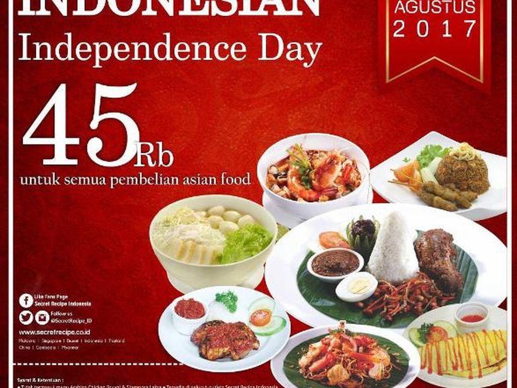Yuk, Ajak Keluarga Makan di Resto dengan Promo 17 Agustus Ini!