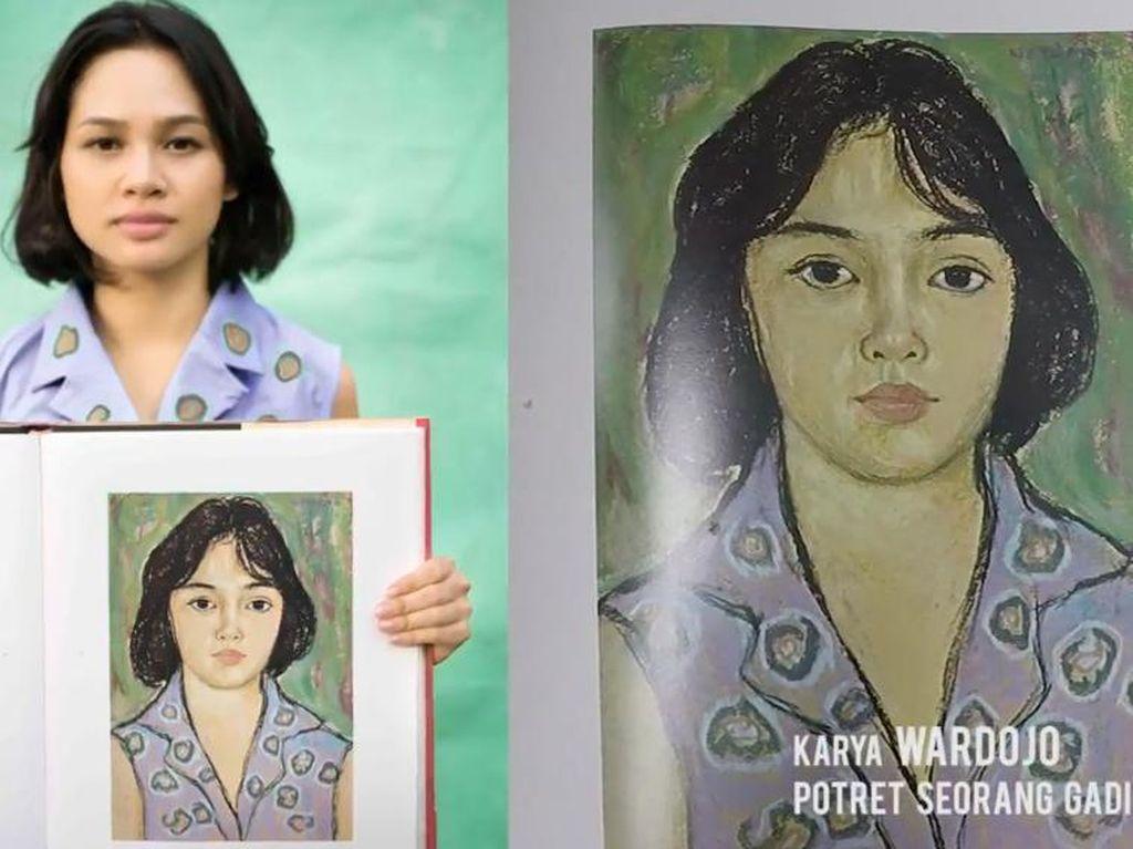 Andien Jadi Model Lukisan Langka Wardojo yang Dipotret Ulang Anton Ismael