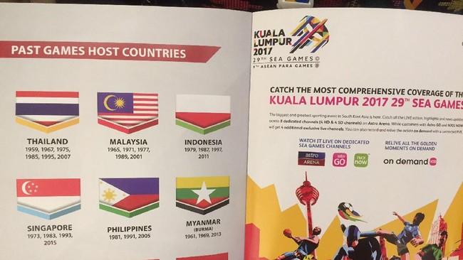 Bendera Indonesia Terbalik di Sea Games 2017