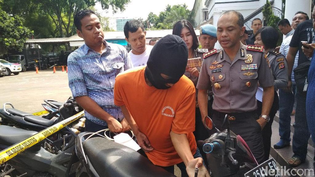 Dor! Polisi di Bandung Tembak Kaki Pelaku Curanmor