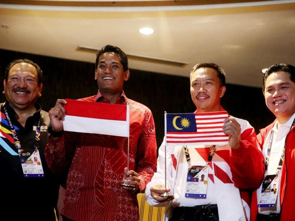 Pertemuan Menpora Indonesia-Malaysia soal Insiden Bendera Terbalik