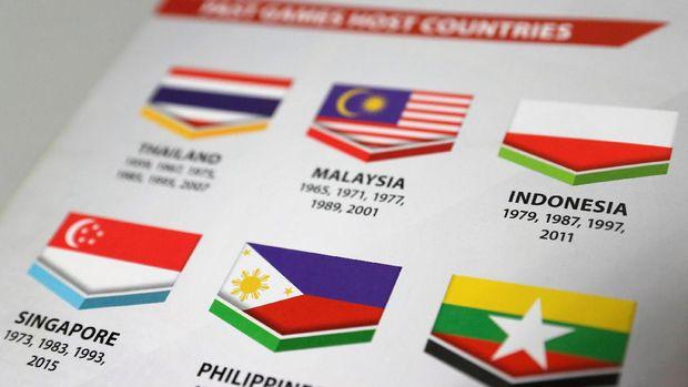 Gambar bendera Indonesia yang terbaik di SEA Games 2017.