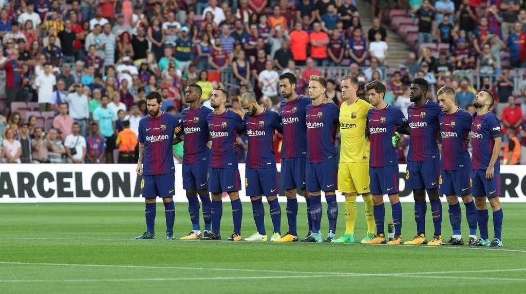 Barcelona Persembahkan Kemenangan untuk Korban Teror