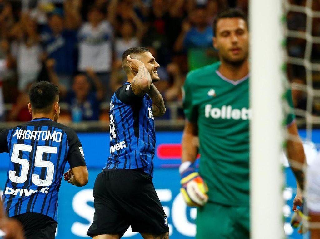 Icardi Dua Gol, Inter Tekuk Fiorentina 3-0