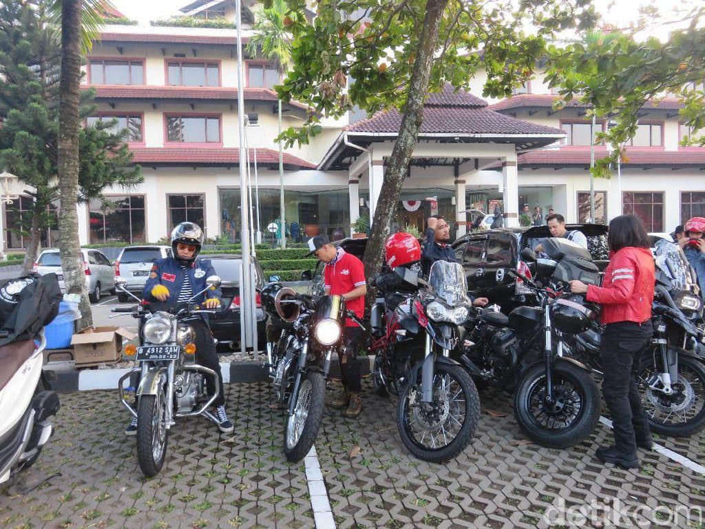 Naik Motor ke Bali, Rombongan Artis Janji Tidak Kebut-kebutan