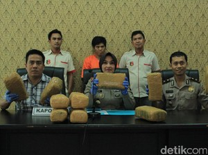 Pengedar di Prabumulih Sumsel Ditangkap, Ganja 8,5 Kg Diamankan