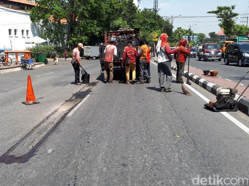 Januari-Juli 2017, Pemkot Surabaya Tambal 1.397 Jalan Berlubang