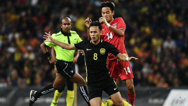 Timnas Malaysia mengalahkan Myanmar 3-1 di SEA Games 2017.