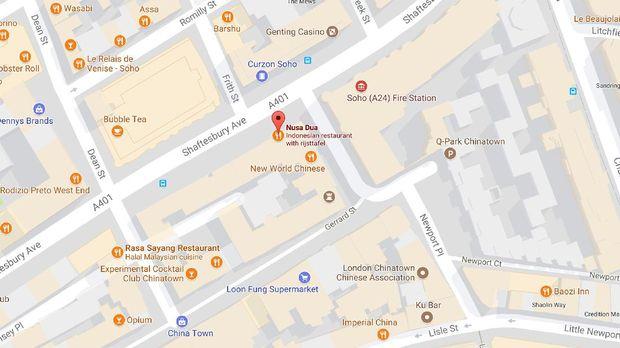 Lokasi restoran Nusa Dua London