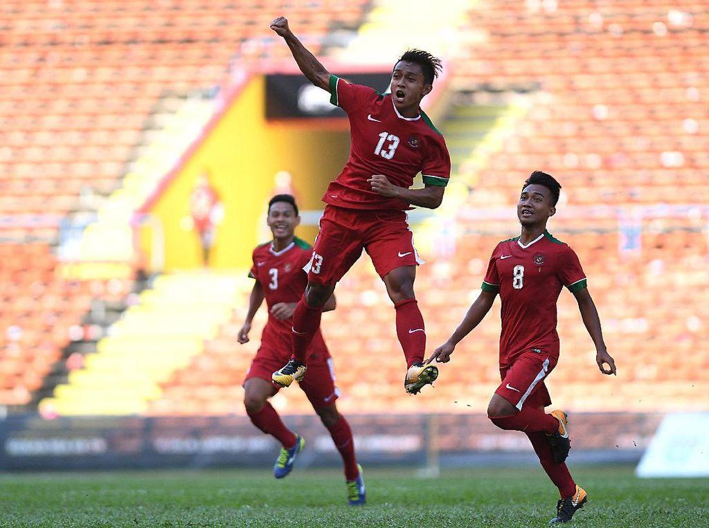 Garuda Muda Terbang ke Semifinal SEA Games 2017