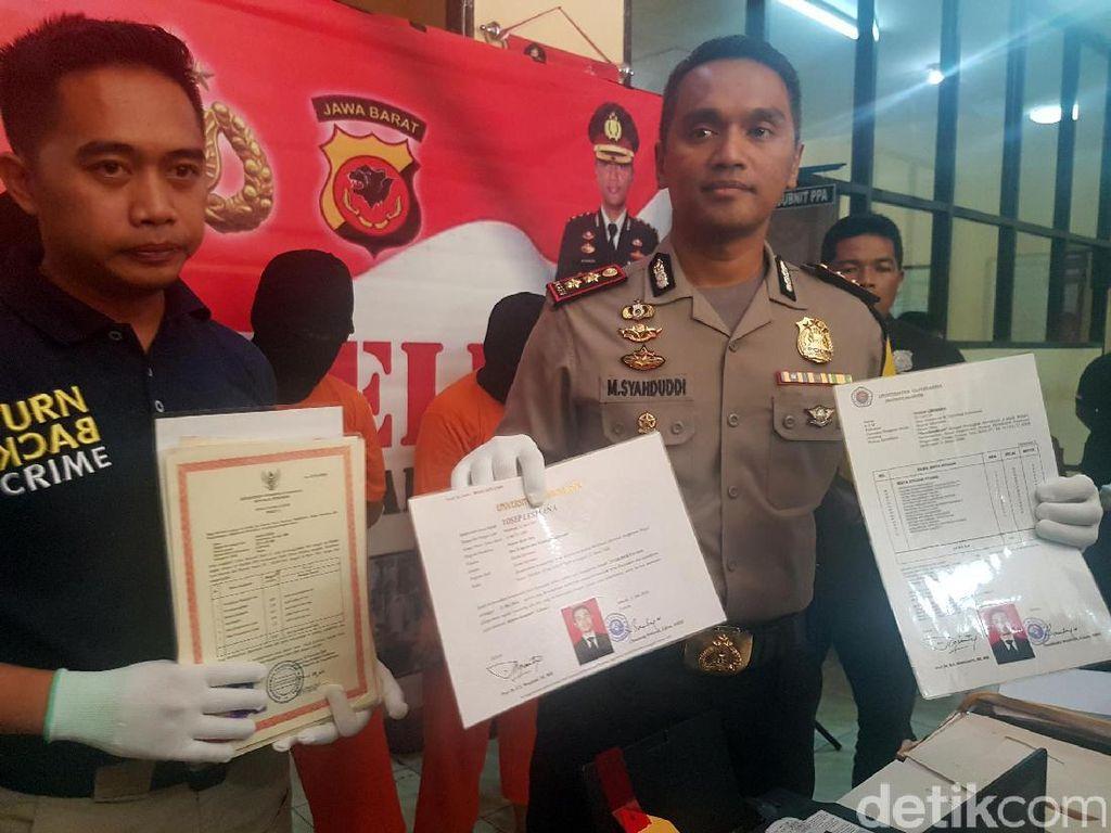 Polres Sukabumi Ringkus Sindikat Pemalsu Ijazah Sarjana