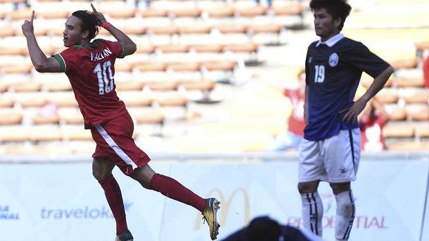 Ezra Walian akan menjadi andalan lini depan Timnas Indonesia U-22 saat melawan Malaysia.