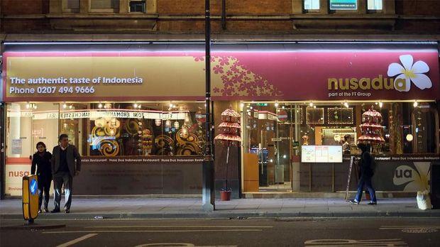 Restoran Nusa Dua London terletak di Shaftesbury Avenue