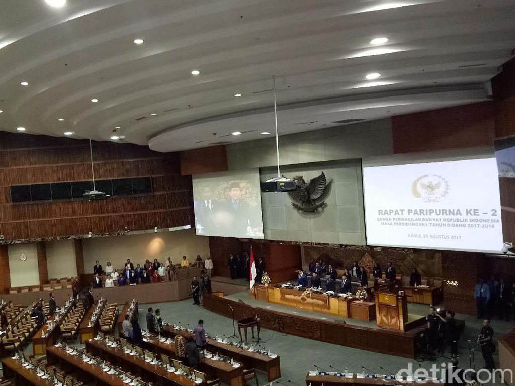 Paripurna RUU APBN 2018, 252 Anggota DPR Tidak Hadir