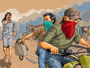 Tabrak Mobil Polisi Usai Jambret, Pemuda di Lombok Tengah Diamuk Massa