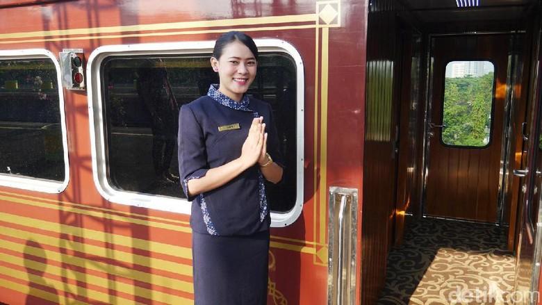 Dewi, Prami KA Wisata Prioritas (Kurnia/detikTravel)