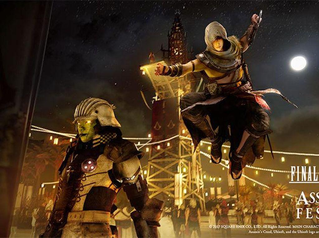 Kolaborasi Assassins Creed dan Final Fantasy XV Terlihat Keren