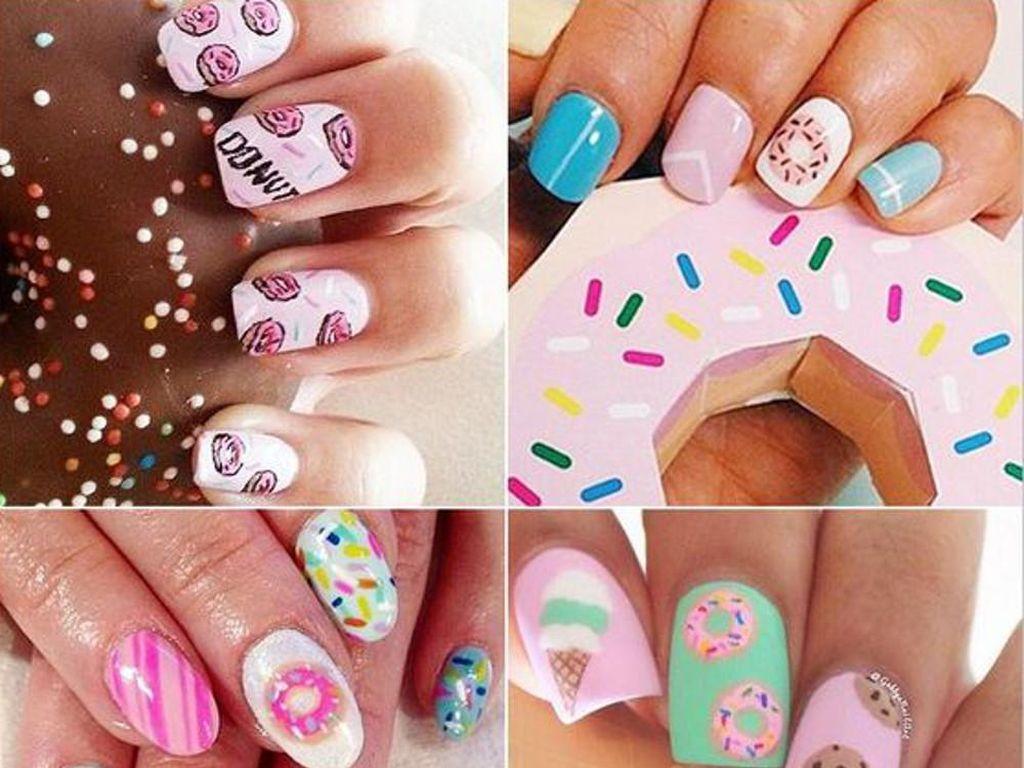 Yummy! Cupcake, Waffle dan Semangka Tampil Cantik di Nail Art