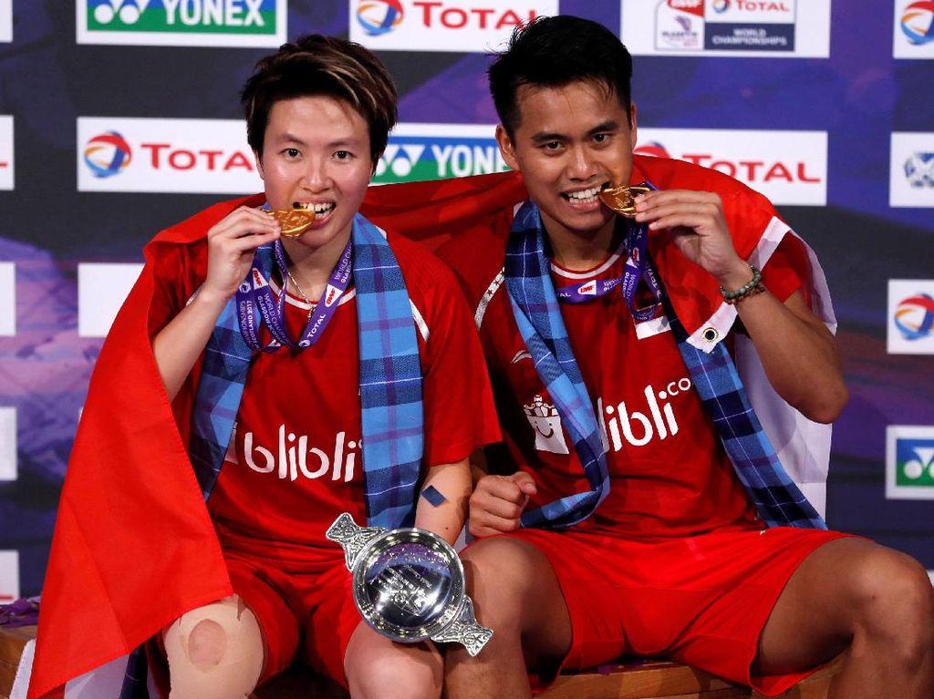Foto: Tontowi/Liliyana Juara Dunia Bulutangkis 2017