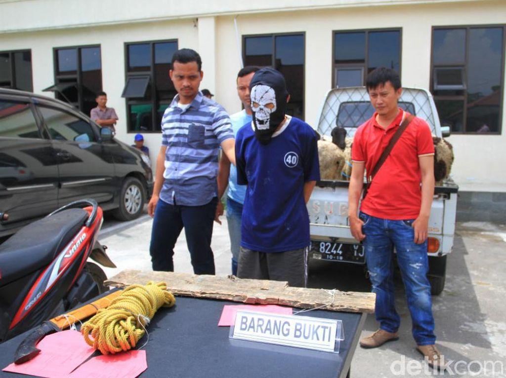Jelang Idul Adha, Pencuri Hewan Ternak di Bandung Dibekuk