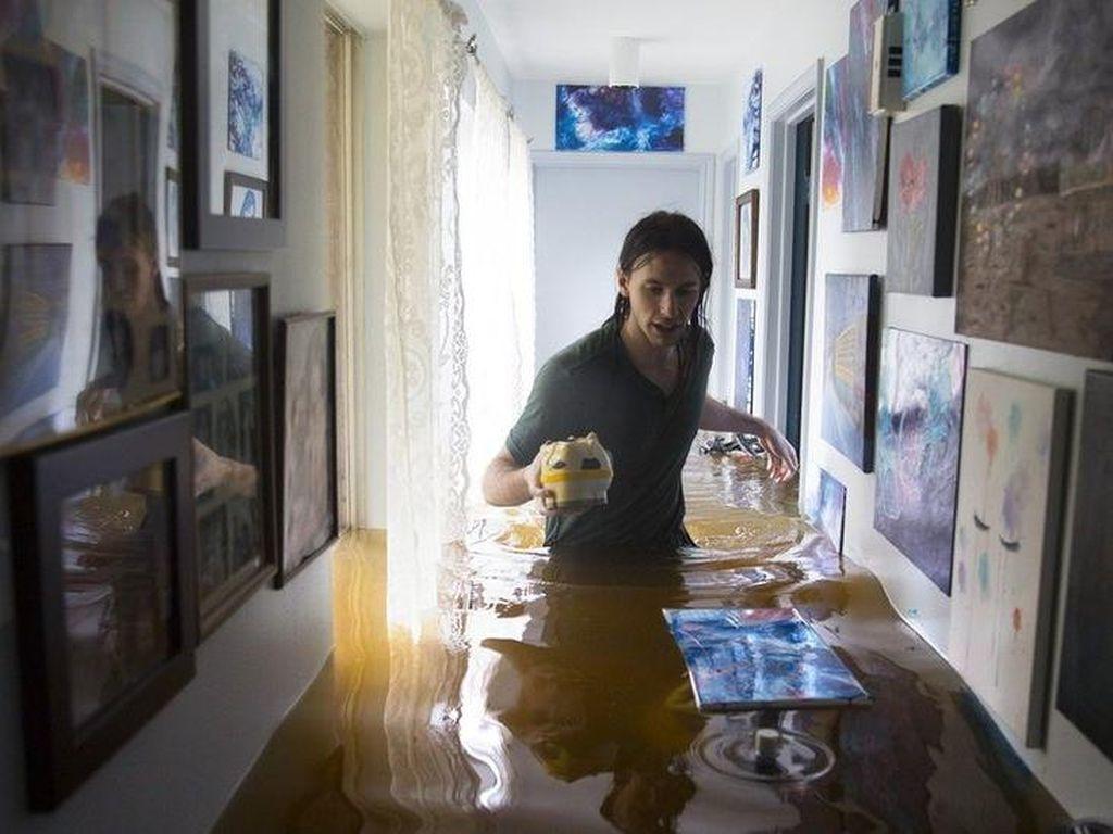 Banjir Houston: Antisipasi Perampokan, Jam Malam Diterapkan