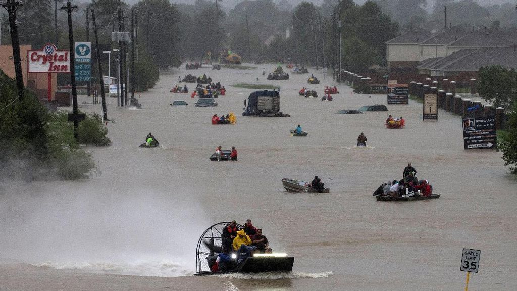 Houston, We Have a Problem! Banjir Akibat Badai Harvey Belum Surut
