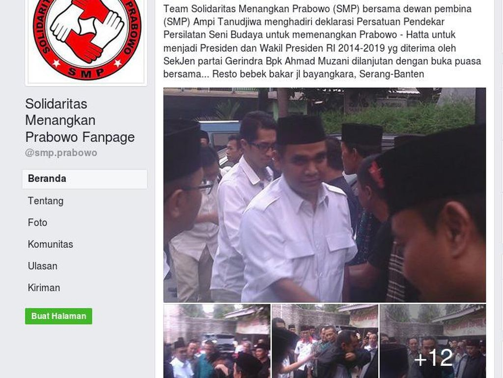 Gerindra Tak Akui SMP, tapi Foto-foto Ini Berkata Lain