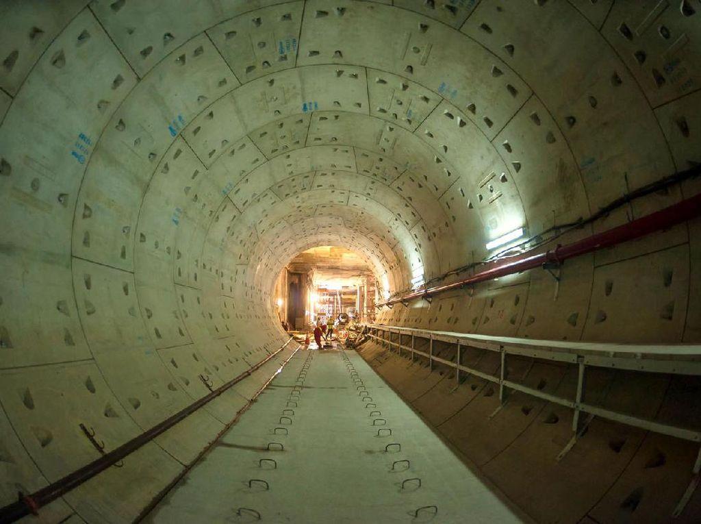 Foto: Perkembangan Terkini Terowongan Bawah Tanah MRT Jakarta